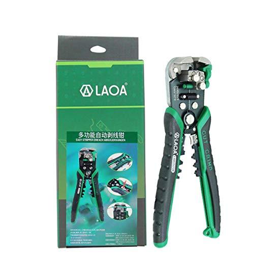 Gugutogo LAOA LA815138 Multifuncional Cable automático Pelacables Engarzadora Engarzadora Alicates de corte Pelacables Herramienta de mano ternal