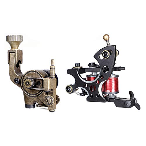 Stigma tattoo gun Complete Tattoo Kit Pro Rotary Tattoo Machine and coils machine Kit Power Supply Color Inks with Case MK682A