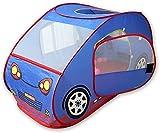 HGA Baby Teepee Kids Pop Up Play Tent Coche Plegable Popup Pit Balls Piscina para Bebés Y Niños Pequeños En Interiores Y Exteriores,Blue