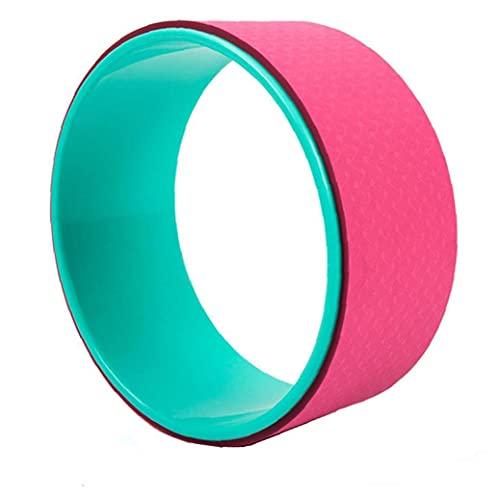 Yililay Yoga Rueda de Rodillo de la Rueda más Fuerte más cómodo Yoga Estiramiento de la Rueda para Aumentar la flexibilidad Mejorar Backbends Rosy
