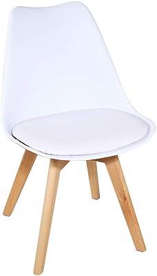 Amazon.com: Conjunto de 4 sillas de comedor estilo Eames ...