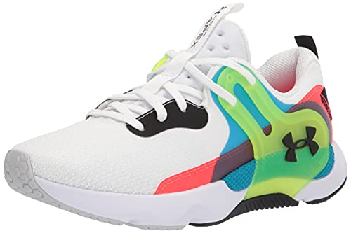 Under Armour Women's HOVR Apex 3 Cross Trainer, White (100)/High-Vis Yellow, 10