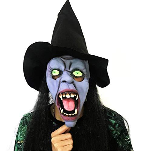 MIANJU Estéreo Bruja De Halloween Máscara Transpirable