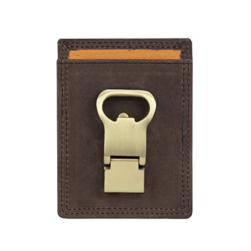 Timberland PRO Leather Front Pocket Wallet with Money Clip Accesorio, marrón Oscuro, Talla única para Hombre