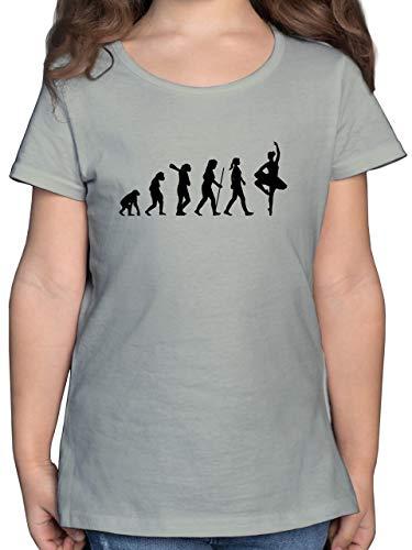 Evolution Kind - Ballett Evolution - 164 (14/15 Jahre) - Hellgrau - Ballett Shirt Kinder - F131K - Mädchen Kinder T-Shirt