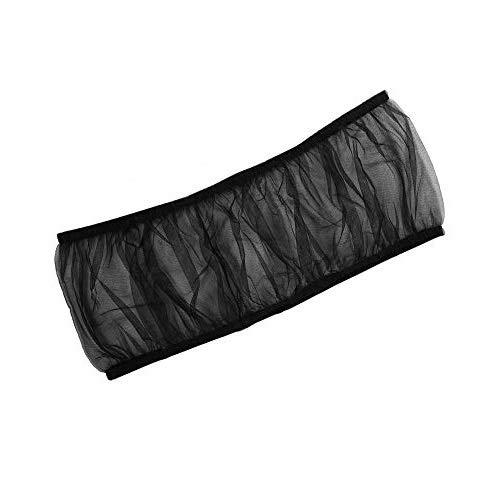 Cubierta de Jaula de pájaros, Malla de Nylon Universal Mascotas Aves Loro Jaula Cobertor de Semillas Cubierta Concha Suave Ventilada Jaula de pájaros Falda L Tamaño (Negro)