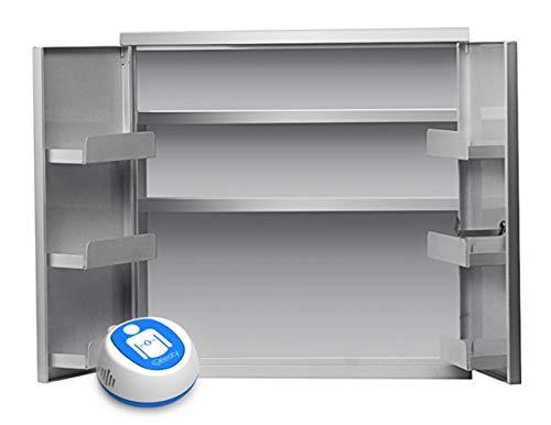 MedX5 Erste Hilfe Metall-Wandschrank mit Doppeltür, Abschließbar 2-Türig, Medizinschrank, Medikamentenschrank passend für Inhalte gem. DIN 13157 und 13169
