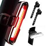 DONPEREGRINO B4 - Luce Bici Posteriore Potente Rosso/Bianco, Fanale Posteriore Bicicletta Ricaricabile con 5 modalità Fissa/Flash