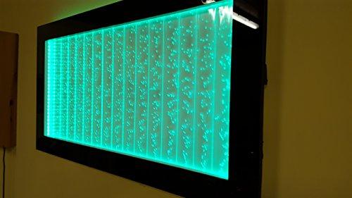 Aquarium Wasserwand Wandbrunnen Wassersäule-mit-LED-Beleuchtung Schwarz