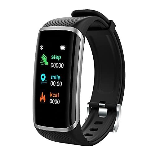 D-Rings Reloj inteligente de 1,2 pulgadas con pantalla a color, reloj inteligente M8, resistente al agua, pulsera de fitness para iOS y Android, para hombre y mujer, reloj inteligente (A1)
