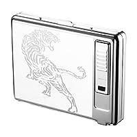 シガレットケース USB充電 ライター 付き キングサイズ 20本収納 タバコケース 紳士用