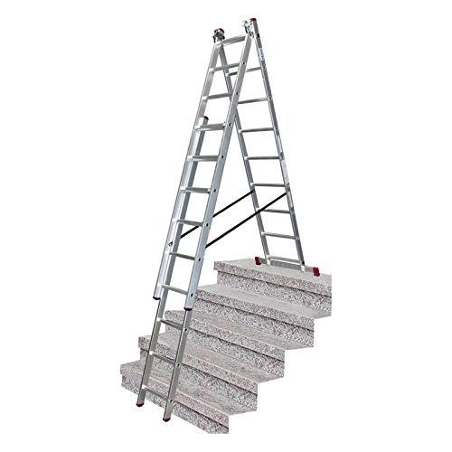 Krause Corda Vielzweckleiter 3x9 Sprossen Mehrzweckleiter Leiter mit Treppenfunktion