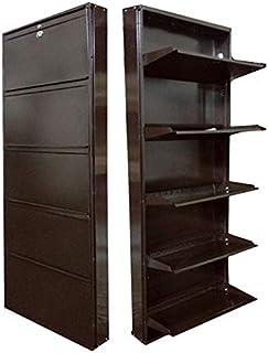 "Biyani Metal Shoe Rack 26"", Jumbo Shoe Rack 5 Shelves, Brown"