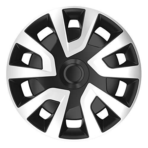 AUTOSTYLE PP 5356 Juego de 4 Tapacubos Revo-Van Pulgadas Plateado/Negro (esférico), 16-Inch