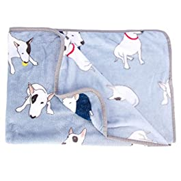 HAODEE Animal Pattern Pet Blanket Warm Washable Soft Fabric Bed Blankets for Protection Puppy Cat(100 X 80cm)