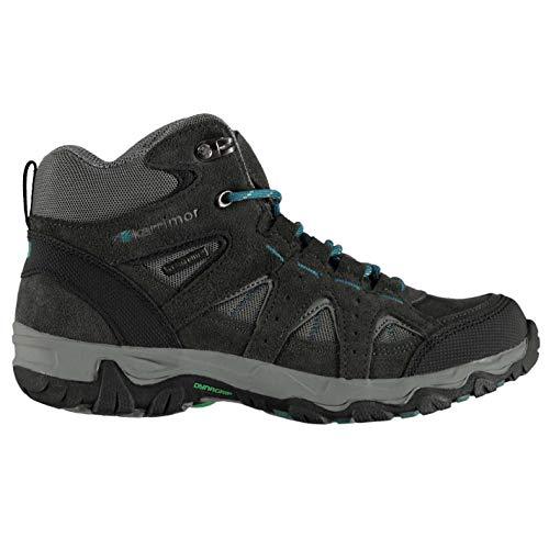 Karrimor Mount Mid Chaussures De Marche Bottes Enfants Gris/Turquoise 38 2/3 EU