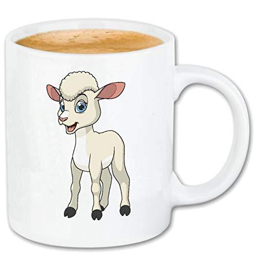 Reifen-Markt Kaffeetasse LUSTIGES KLEINES Schaf - SCHÄFER - Schafe - SCHAFSHERDE - SCHAFSWOLLE Keramik 330 ml in Weiß