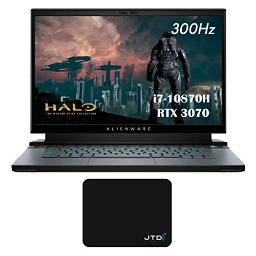 "Dell_Alienware Alienware M15 R4 Gaming Laptop 15.6"" FHD 300Hz, Intel Core i7-10870H, GeForce RTX 3070 8GB Graphics (16GB DDR4 RAM   1TB PCIe SSD) RGB Backlit, Webcam, Windows 10 Bundle JTD Pad"