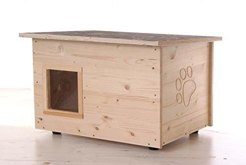 Katzenhaus - Katzenhütte mit Heizung, Boden und Wände wärmegedämmt