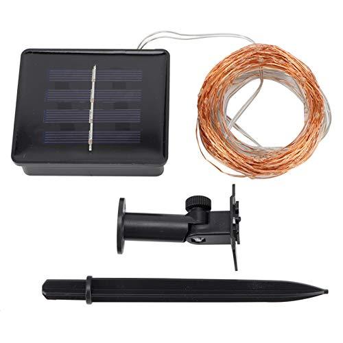 TANKE 100LED Solar Lichterkette Wasserdichtes Licht Solar Kupferdraht Lichterketten Outdoor Wasserdichte Farblichter für Party Weihnachtsdekoration