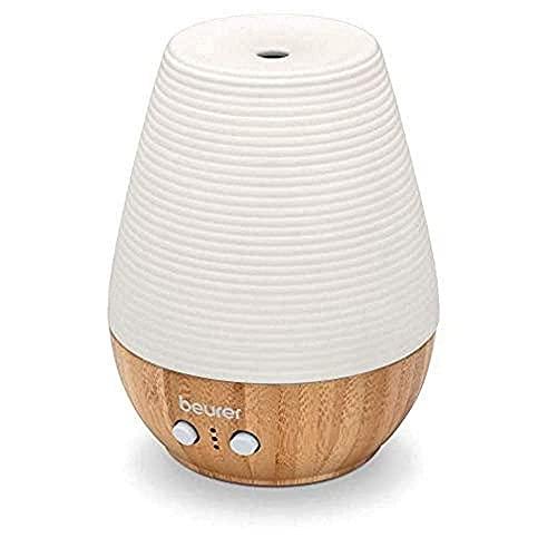 Beurer LA 40 Aroma Diffuser, Duft-Vernebler mit Ultraschall-Zerstäubung, mit Wellnesslicht und Farbwechsel, aus Holz