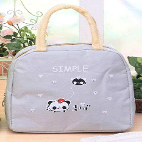 Insulated Lunch Bag Reusable Lunch Bag High Capacity Three-Layer Thick Fabric to Insulation & Freshness, Water-Resistant, for Adults/Men/Women,22x18x12cm