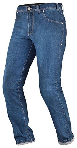 SHIMA Kevlar Hombre Pantalón de Motorista SAS de verano Tec con protecciones, indygo Blue, Tamaño 36