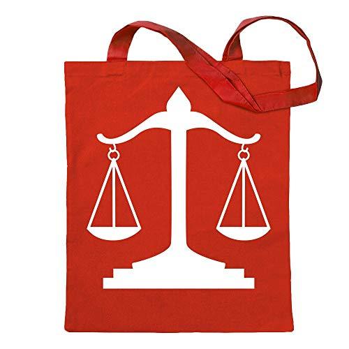 Kiwistar Waage Gericht Anwalt Justitia Tragetasche Baumwolltasche Stoffbeutel Umhängetasche langer Henkel