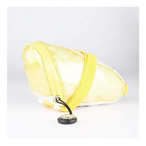 SACOCHES Sac De Selle De VéLo, Sac De De VéLo pour Femmes VTT Sac De Selle De VéLo ImperméAble à l'eau De Pluie Preuve Sac De Stockage De VéLo,Yellow