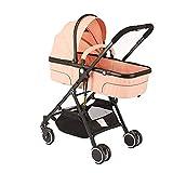 CAR Poussettes Confortables Poussette pour bébé Système de Voyage pour Poussette légère 2 en 1 Poussette Pliable et...