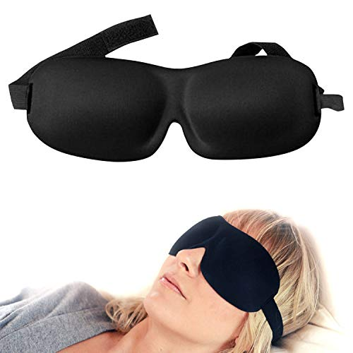 Luxury Patented Sleep Mask, Nidra® Deep Rest Eye Mask with Contoured Shape and Adjustable Head...