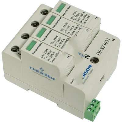 Emerson Network Power DRS12020 TVSS Din Rail Protection 120V Single Phase (All-Mode)