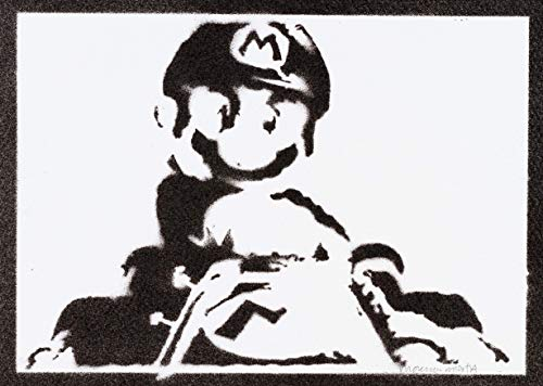 Mario Kart Poster Plakat Handmade Graffiti Street Art - Artwork