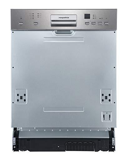 respekta Einbaugeschirrspüler 60cm mit Display, teilintegriert GSP60IBATIDMA++