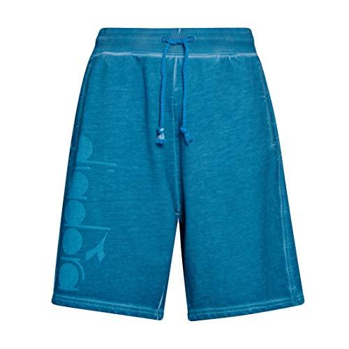 Diadora Herren Bermuda 5Palle Used Look Baumwolle Shorts in Blue Pearl Arbor Gr. XL, blau