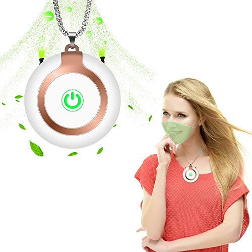Portable Air Purifier Personal for Home, Mini Wearable Air Purifier for Kids,Adults and Car, USB Charging Bedroom Office Travel Air Purifier for Pets Smell