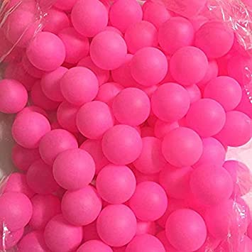 Lakikey 150Pcs Color sólido Scrub Bola de tenis de mesa Ping Pong Ball Juego de lotería Entretenimiento Juguetes Pelotas de mascotas