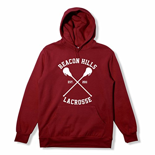 MyShirt - Beacon Hills Maroon Hoodie Teen Wolf Inspired Fan Jumper Dylan O'Brien Stiles McCall Größen XS - XXL Top Gr. M, Stilinski 24