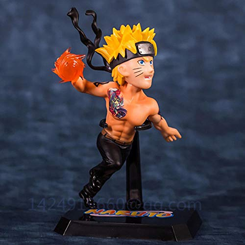 brandless Anime Naruto Shippuden Rasengan Uzumaki Naruto Ashura Kurama Cadeau de noël PVC estatuilla modèle à collectionner Estatua jouet G588