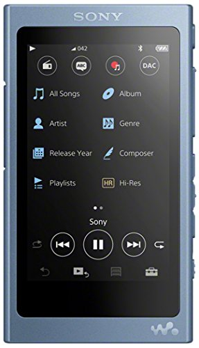 Sony NW-A45R High Resolution Walkman MP3 Player (16GB, Touchscreen, Digitalverstärker, Bluetooth, NFC, Hi-Res, bis zu 45h Akku) blau