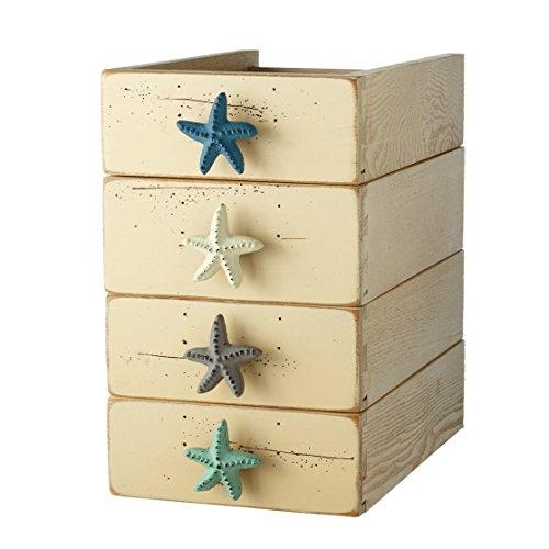 Set of 4 Cast Iron Starfish Cabinet & Furniture Knobs