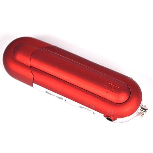 gazechimp 8GB MP3 MP4 Player Music Media Rádio FM USB 2.0 Vermelho