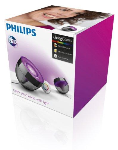 Philips Living Colors Iris, Energiesparende LED-Technologie mit 10 Watt,16 Millionen Farben, mit Fernbedienung, schwarz 7099930PH - 5