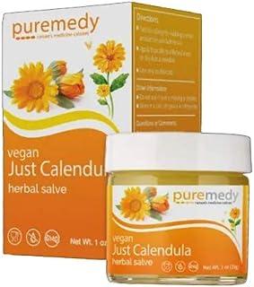 Puremedy Just Calendula Herbal Salve - Homeopathic Natural Remedy Multi-Purpose Skin Ointment (1oz)