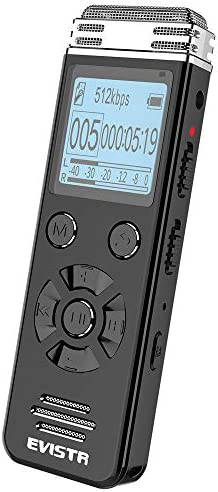 EVISTR V508 Digital Voice Recorder for Lectures Meetings Portable Recording Devices with Playback product image