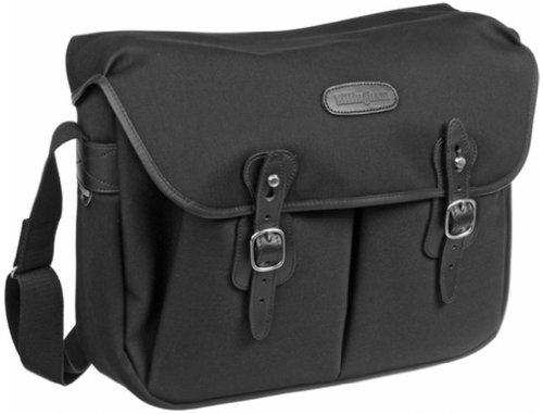 Billingham FibreNyte-Kamera-Tasche Hadley (groß, mit schwarzen Lederrändern) Schwarz