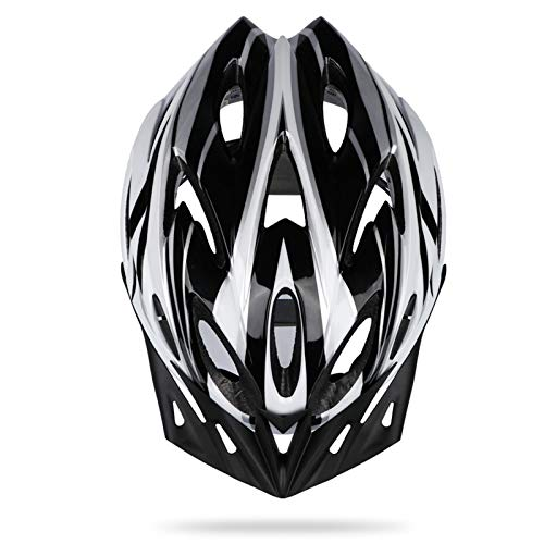 Sunrimoon Adult Bike Helmet Men Women  Bicycle Helmet with Adjustable Visor/Size Dial Reflective Safety Ribbon Road Bike Helmet