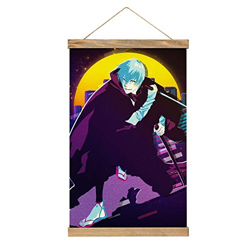 Hochwertige Leinwand zum Aufhängen eines Posters, Anime Bleach Ichimaru Gin, Poster, Wandbild, einfach anzubringen, 33,1 x 50,1 cm