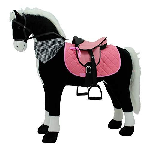 Sweety Toys 11124 Plüsch Stehpferd Reitpferd XXL 125 cm mit Sattel