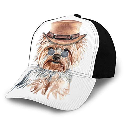 Fabulous_Woo Yorkshire Terrier Perro acuarela con disfraz gorra de bisbol para hombres y mujeres unisex sombrero deportivo